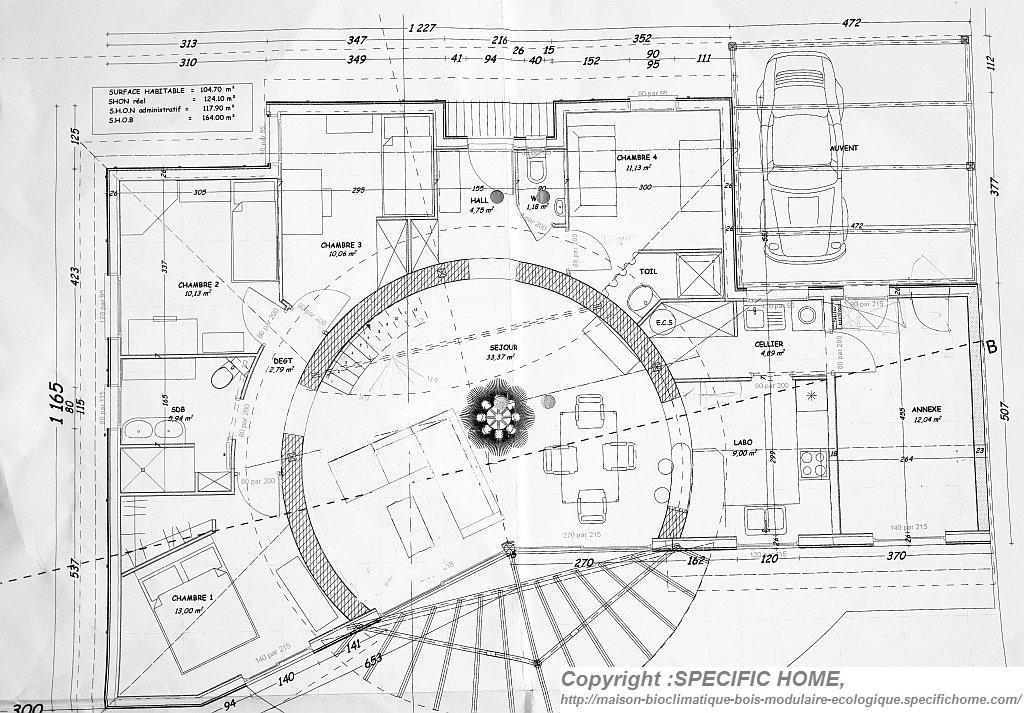 Maison bioclimatique for Maison bioclimatique plan